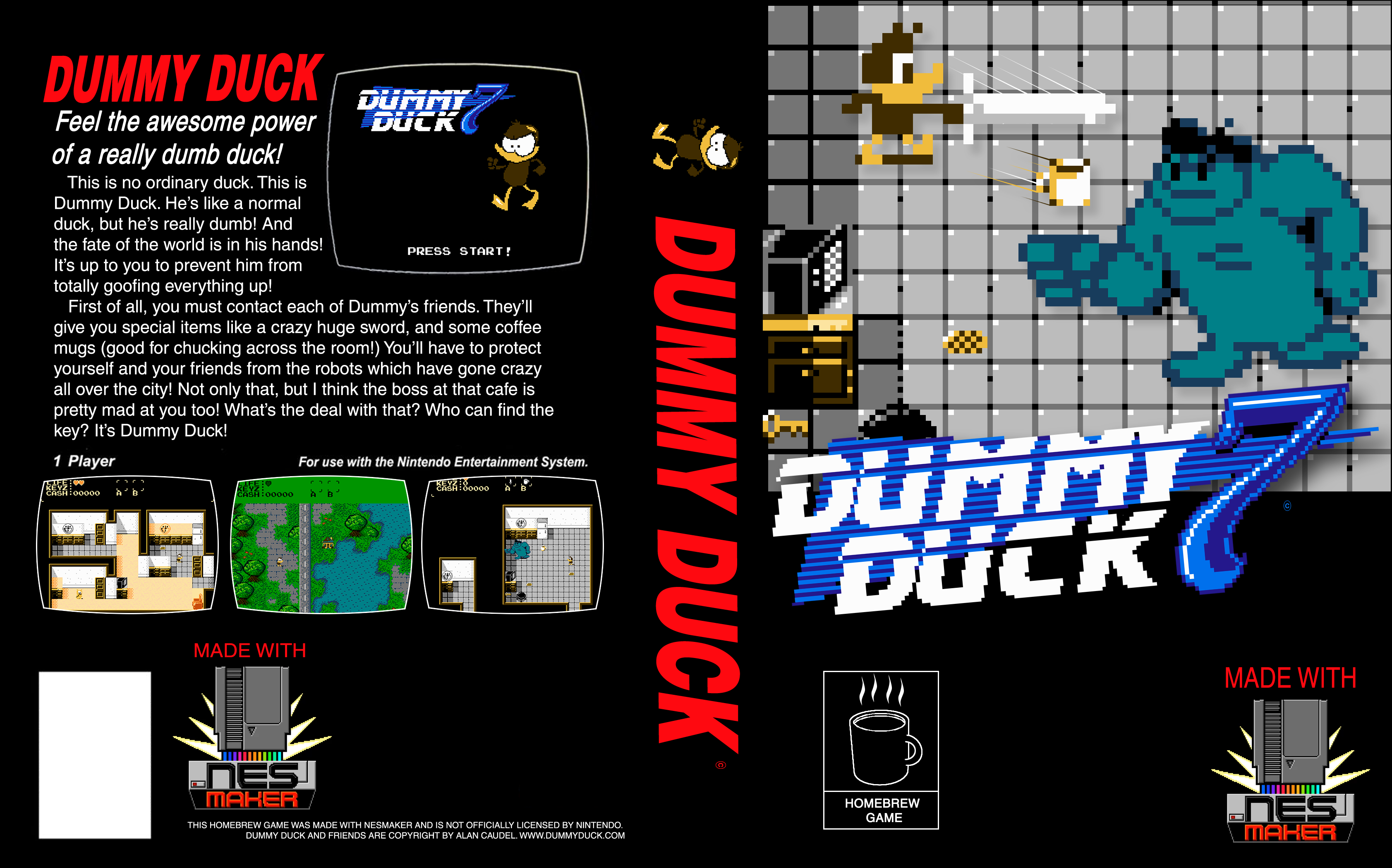Box Art for the Dummy Duck NES game!